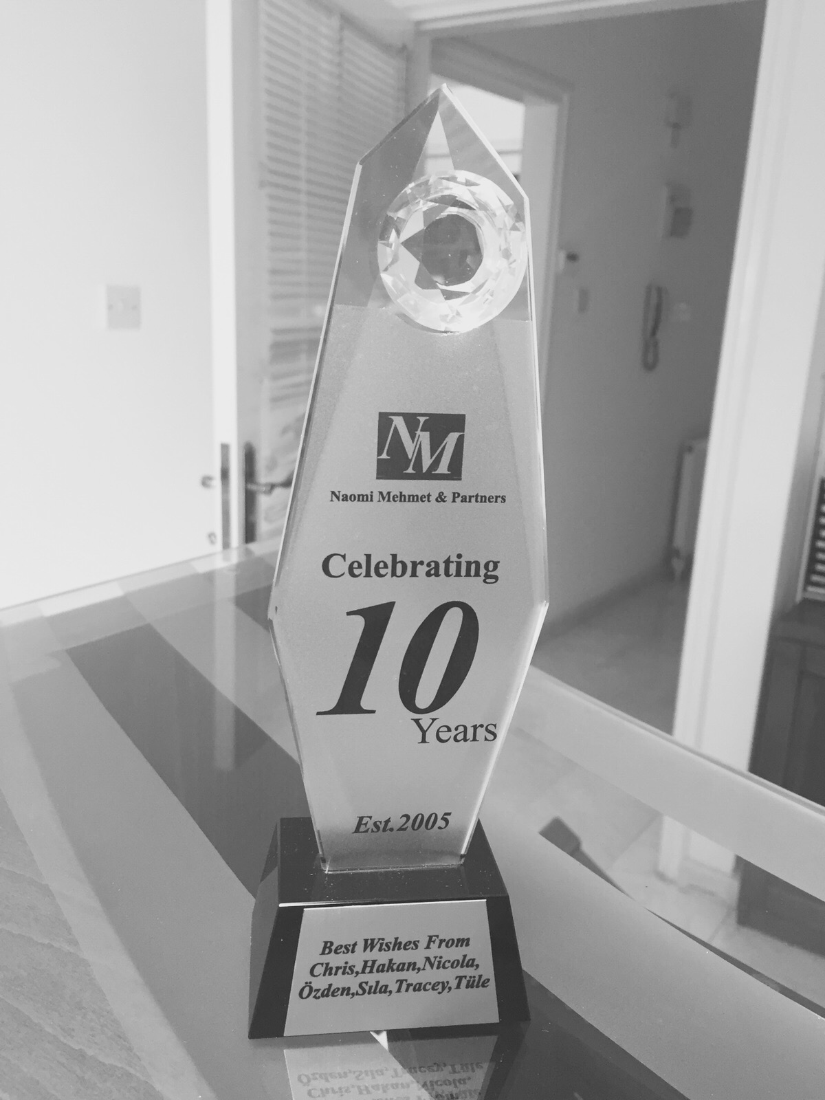 NMP 10 years plaque